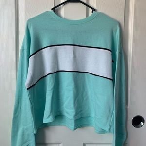 Mint Blue Cropped Sweater